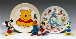 Sale 9148 - Lot 51 - A group of Disney and Looney Tunes items incl Figures and plates