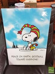 Sale 8421 - Lot 1057 - Vintage and Original Snoopy Poster