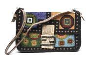 Sale 8564 - Lot 399 - A FENDI GLASS BEADED HANDBAG; with adjustable shoulder strap, 25 x 14 x 5cm.
