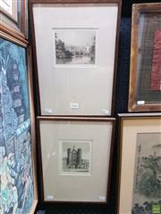 Sale 8645 - Lot 2026 - FH Tehay (2 Works) - St James Palace; Buckingham Palace 38.5 x 28cm, each (frame size)