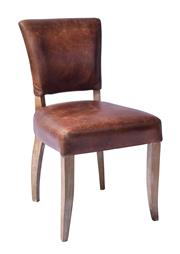 Sale 8912H - Lot 88 - A set of eight German Art Deco styled dining chairs in top grain waxed leather. Height 88cm x Width 47cm x Depth 55cm