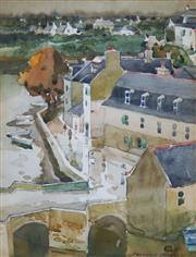 Sale 8916A - Lot 5022 - Frederick Bates (1918 - 2009) - Blue Haven in Brittany, France, c1950 22 x 16 cm