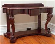 Sale 9020H - Lot 90 - A Victorian mahogany dresser with single drawer H79 xw120x D58cm