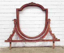Sale 9157 - Lot 1041 - Carved and painted timber dresser mirror frame - 152 ((h104 x w123cm)