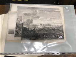 Sale 9163 - Lot 2076 - Group of Antique Engravings: Napoleonic Battles (4); View of Cape Espiritu Santo and battle between Centurion and Nostra Seigniora d...