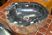 Sale 8115 - Lot 1445 - Petrified Wood basin