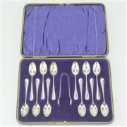 Sale 8332 - Lot 30 - English Hallmarked Sterling Silver Edward VII Teaspoon Set