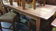 Sale 8361 - Lot 1098 - Recycled Elm Honey Coloured Dining Table (180)