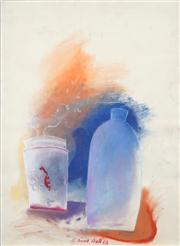 Sale 8466A - Lot 5039 - Anne Hall (1946 - ) (4 works) - Still Life Studies, 1967 ; Rooster 101 x 70cm, each (sheet size)