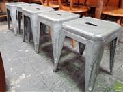 Sale 8493 - Lot 1056 - Set of 6 Original Thornet Metal Stools