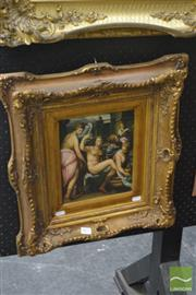 Sale 8537 - Lot 2025 - Continental School - Lady and Maidens 24 x 19cm (frame size:: 50 x 45cm)
