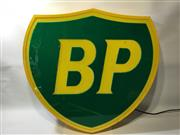 Sale 8579 - Lot 36 - A working BP shield light up sign, H 70 x W 74cm