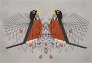 Sale 8565A - Lot 5091 - Charles (Charley) Harper (1922 - 2007) - Two Birds 29 x 43cm