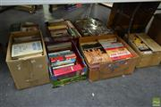 Sale 8563T - Lot 2252 - 7 Boxes of Various Books; Hard Covers & Paperbacks