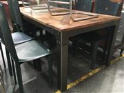 Sale 8782 - Lot 1309 - Recycled Timber Top Table with Metal Base