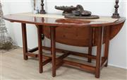 Sale 8902H - Lot 8 - An Irish pine wake table, Height 74cm, Width 168cm, Extended to 140cm