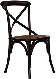 Sale 9010F - Lot 62 - A SET OF EIGHT CROSSBACK ELM DINING CHAIRS IN BLACK  H:90 W:47 D:46cm