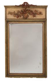 Sale 9087H - Lot 72 - An Antique French over mantle mirror Height 1.33m Width 77cm