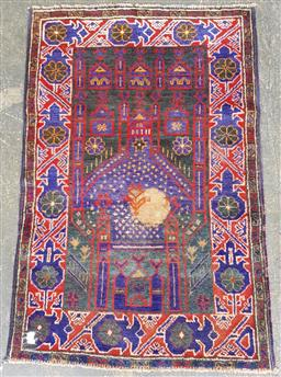 Sale 9157 - Lot 1085 - Hand knotted pure wool Persian baluchi (190 x 65cm)