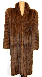 Sale 8196F - Lot 319 - A 1940S MASQUASH STYLE LAPPIN FUR COAT; Newmark Sydney, relined, ankle length (L).