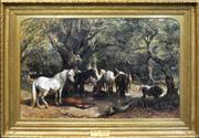Sale 8254 - Lot 578 - George Bouverie Goddard (1832 - 1886) - Sunny Days In The New Forest, 1880 108 x 168cm