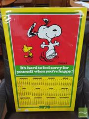 Sale 8421 - Lot 1056 - Vintage and Original Snoopy Calendar Poster 1978