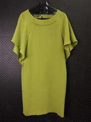 Sale 8514H - Lot 42 - Laurel Green Bat Sleeve Dress - UK size 10