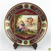 Sale 8589R - Lot 87 - Royal Vienna Cabinet Plate with a Classical Scene, signed A. Heer (D: 30cm)