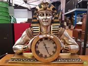 Sale 8589 - Lot 1076 - Egyptian Style Table Clock with Pharaoh