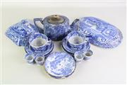 Sale 8935D - Lot 612 - Small quantity of blue & white dinner & tea wares incl. spode & royal crown derby