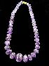 Sale 7358 - Lot 6 - A STRAND OF CARVED AMETHYST BEADS.