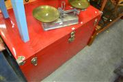 Sale 8115 - Lot 1158 - Large Red Traveling Trunk