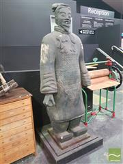 Sale 8495F - Lot 1002 - Chinese Warrior Statue