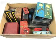 Sale 8539M - Lot 269 - Assortment of Oddities, mostly good trick boxes incl one with internal spinning mechanism, all handmade and nicely decorated