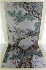 Sale 8968 - Lot 76 - Bird themed Chinese scroll