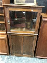 Sale 9022 - Lot 1070 - Maple Medical/ Display Cabinet with Glazed Top Section