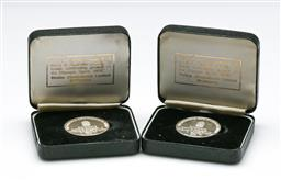 Sale 9164 - Lot 504 - Sterling silver 1976 proof XXI Olympiad Montreal medals