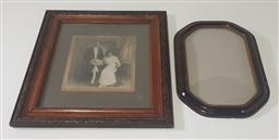 Sale 9188 - Lot 1429 - Vintage photograph in oak frame and another (h:66 x d:56cm)