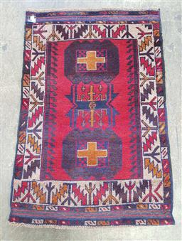 Sale 9210 - Lot 1084 - Red tone rug (136 x 93.5)