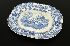 Sale 7440 - Lot 53 - A 19TH CENTURY BLUE & WHITE PLATTER