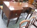 Sale 7919A - Lot 1733 - Georgian  Mahogany Breakfront Sideboard with 2 Long & 2 Deep Drawers on Tapering Legs