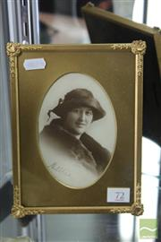 Sale 8256 - Lot 72 - Dame Nellie Melba Photo with Signature in a Gilt Frame
