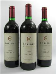 Sale 8278A - Lot 73 - 3x 1992 Coriole Shiraz, McLaren Vale