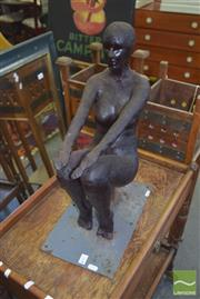 Sale 8331 - Lot 1534 - A Wax Moulded Figure of a Naked Muse, height 53cm