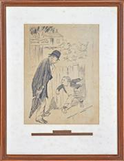 Sale 8358 - Lot 517 - Norman Lindsay (1879 - 1969) - The Big Contract 30.5 x 24cm