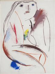 Sale 8466A - Lot 5041 - Anne Hall (1946 - ) (3 works) - Nude Studies 101 x 70cm, each (sheet size)