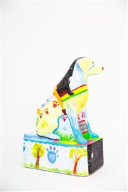 Sale 8479G - Lot 17 - Petes Place. The artist of this dog is called Jemma. She is a Year nine pupil at Petes Place School. Jemma loves animals, nature...