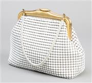 Sale 8541A - Lot 81 - A vintage Oroton white mesh handbag, in good condition, W 22cm
