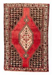Sale 8800C - Lot 133 - A Persian Hamadan Hand Knotted Wool Pile Rug, 130 x 195cm