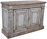 Sale 9010F - Lot 63 - A RECYCLED TIMBER SIDEBOARD IN A WASHED GREY BLUE FINISH H:90W:130D:45cm